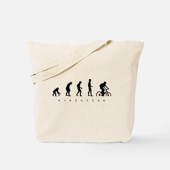 Cute Biking evolution Tote Bag