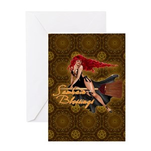 Wiccan holiday greeting cards cafepress m4hsunfo