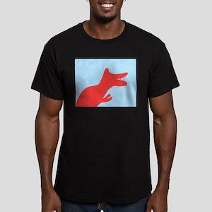 Blue Silhouette Dinosaur T-Rex Harvey's Fa T-Shirt