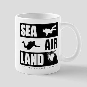 'God's Sea Air Land' Mug