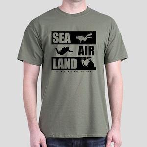 'God's Sea Air Land' Dark T-Shirt