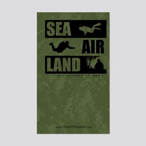 'God's Sea Air Land' Rectangle Sticker