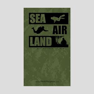 'God's Sea Air Land' Rectangle Sticker