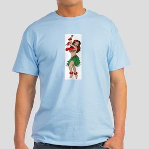 Hawaiian Hula Dancer Tattoo Light T-Shirt
