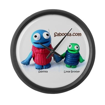 Saboosa and Little Brother Wall Clock