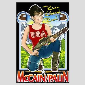 Run Liberal Run - McCain Palin Large Poster
