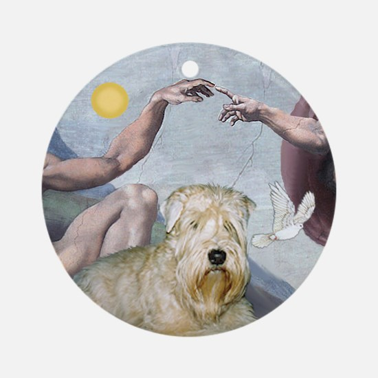 """Creation"" & Wheaten Terrier Keepsake (Round)"