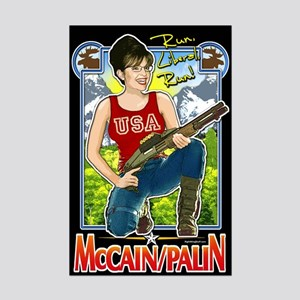 Run Liberal Run - McCain Palin Mini Poster Print