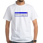 Update Available White T-Shirt