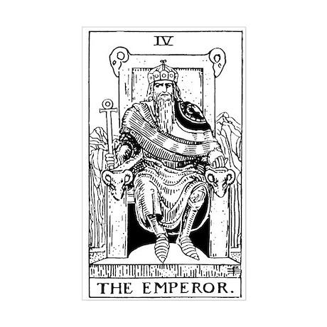 The Emperor Tarot Card Rectangle Sticker