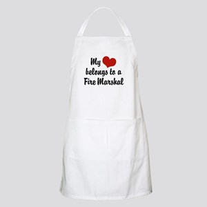 My Heart Belongs to a Fire marshal BBQ Apron