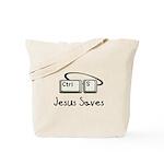 Jesus Saves (Ctrl S) Tote Bag