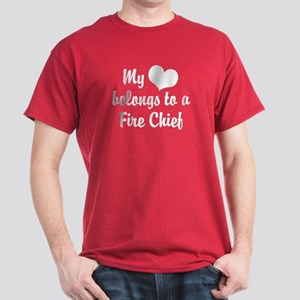 My Heart Belongs to a Fire Chief Dark T-Shirt