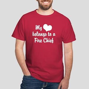 My Heart Belongs to a Fire Chief Dark T-Shirt