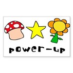 Power Up Rectangle Sticker