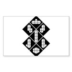 Blocks - Black Rectangle Sticker 50 pk)