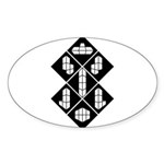 Blocks - Black Oval Sticker (10 pk)