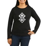 Blocks - White Women's Long Sleeve Dark T-Shirt