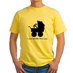Gamer from Birth Yellow T-Shirt