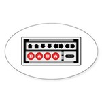 The Code Oval Sticker (10 pk)