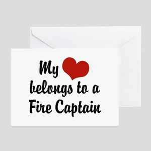 My Heart Belongs to a Fire Captain Greeting Cards