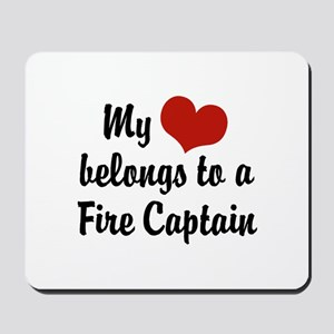 My Heart Belongs to a Fire Captain Mousepad