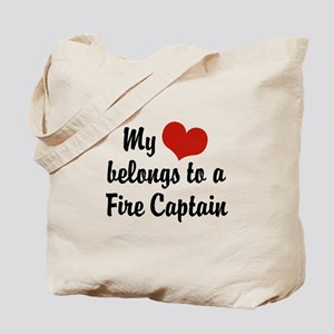 My Heart Belongs to a Fire Captain Tote Bag