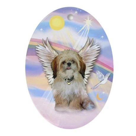 angelbaby shih tzu shih tzu angel keepsake oval by prettyornaments 257