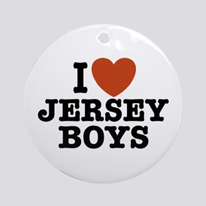 I Love Jersey Boys Ornament (Round)