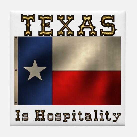 Texas Hospitality Tile Coaster