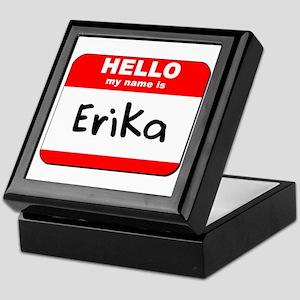 Hello my name is Erika Keepsake Box
