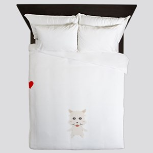 Life Without A West Highland White Ter Queen Duvet