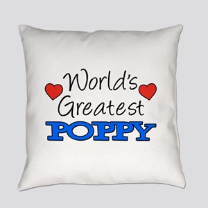 World's Greatest Poppy Drinkware Everyday Pillow
