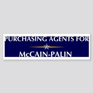 PURCHASING AGENTS for McCain- Bumper Sticker