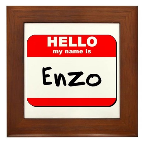 Hello my name is Enzo Framed Tile