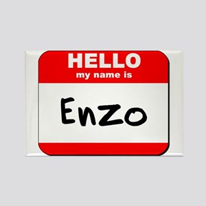 Hello my name is Enzo Rectangle Magnet