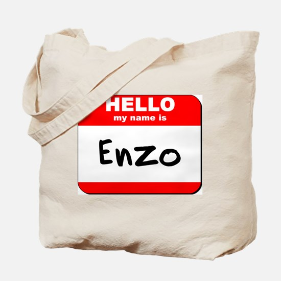 Hello my name is Enzo Tote Bag