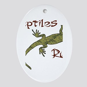 Reptiles Rule! Oval Ornament
