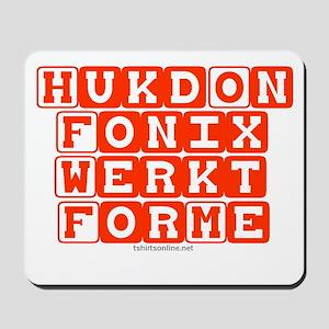 Hukd on Fonix Mousepad