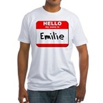 Hello my name is Emilie Fitted T-Shirt