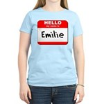 Hello my name is Emilie Women's Light T-Shirt