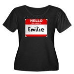 Hello my name is Emilie Women's Plus Size Scoop Ne