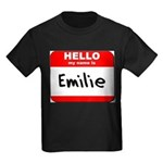 Hello my name is Emilie Kids Dark T-Shirt