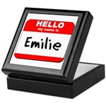 Hello my name is Emilie Keepsake Box