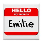 Hello my name is Emilie Tile Coaster