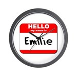 Hello my name is Emilie Wall Clock