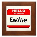 Hello my name is Emilie Framed Tile