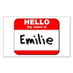 Hello my name is Emilie Rectangle Sticker