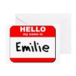 Hello my name is Emilie Greeting Card