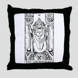 The Hierophant Tarot Card Throw Pillow